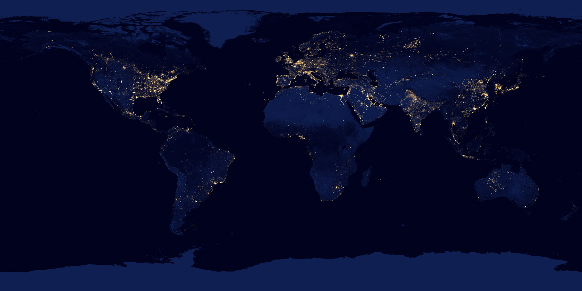Earth At Night Academo Org Free Interactive Education